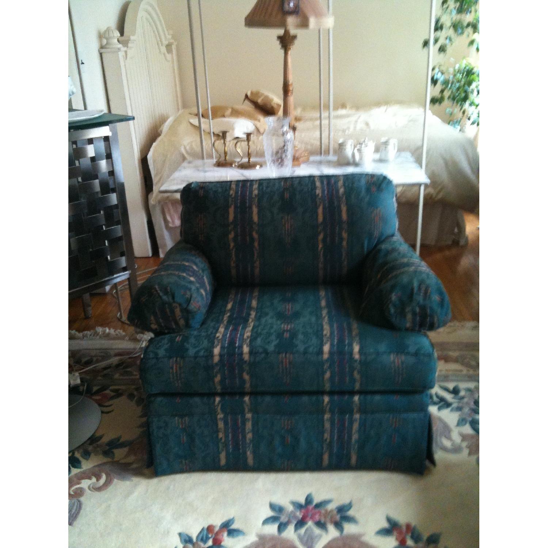 Ethan Allen Roll Arm Chair W/ Custom Upholstery ...