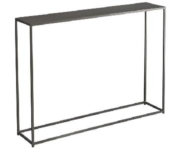 CB2 Mill Grey Console Table + 2 End Tables
