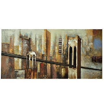 Raymour & Flanigan Metal Bridge Wall Art