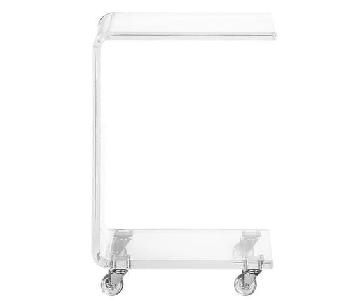 CB2 Rolling Acrylic Side Table