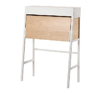 Ikea PS 2014 Foldable Desk in White & Birch Veneer