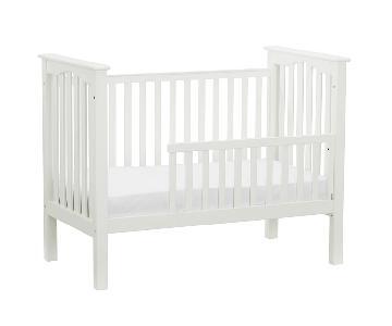 Pottery Barn Kendall White Convertible Crib