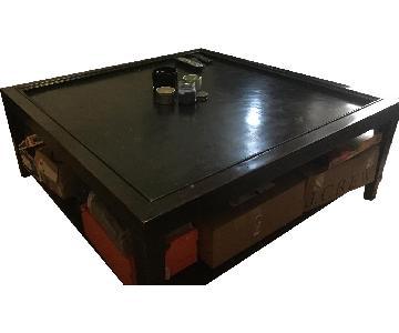 Black Coffee Table w/ Storage