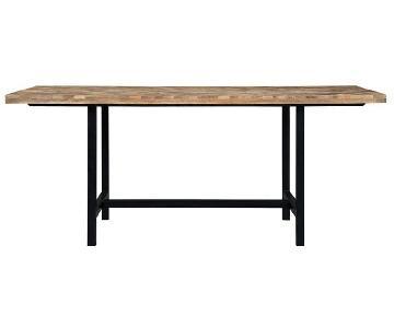Coaster Natural Wood Dining Table