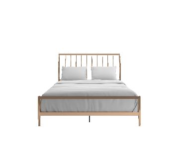 InspireQ Lincoln Copper/Rose Gold Finish Metal Bed