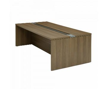 Turnstone Conference/Bar Table in Warm Oak