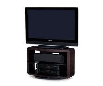 Jensen-Lewis Valera Swivel TV Stand in Espresso Oak