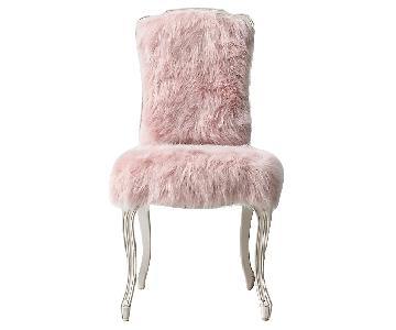 Restoration Hardware Sophie Kashmir Faux Fur Desk Chair