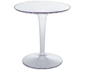 Tulip Style Transparent Side Table