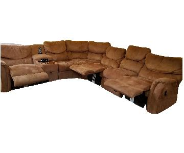 La-Z-Boy 6-Piece Sectional Sofa w/ 3 Reclining Seats
