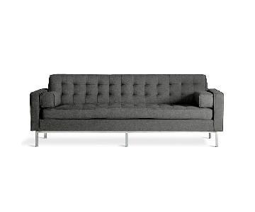 Gus Modern Spencer Sofa w/ Stainless Steel Base
