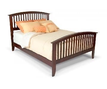 Bob's Dark Brown Wood Full Bed