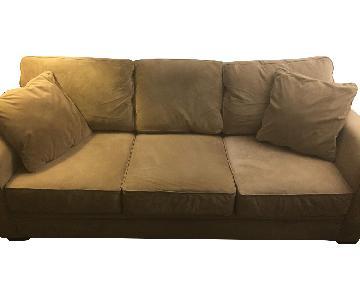 Jonathan Louis Furniture Beige Microfiber Sofa