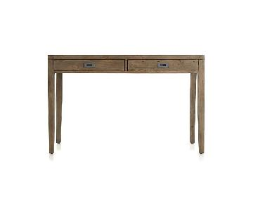 Crate & Barrel Morris Writing Desk in Ash Grey