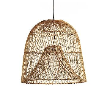 CB2 Nassa Wicker Pendant Light
