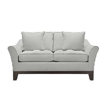 Raymour & Flanigan Grey Tufted Loveseat