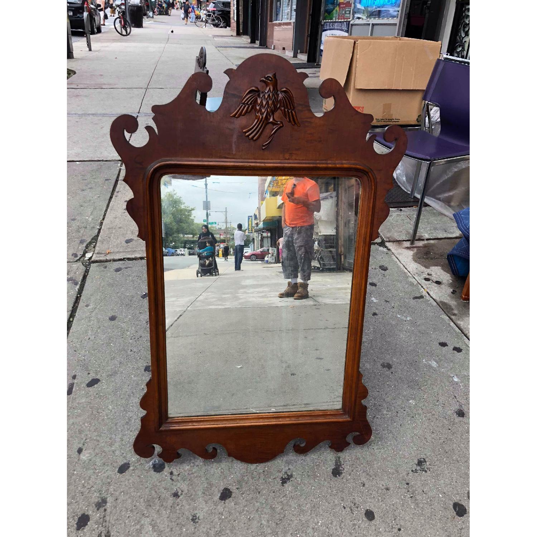 Antique Mahogany Wall Mirror Aptdeco