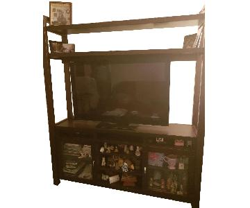 Raymour & Flanigan TV Entertainment Center w/ Shelves