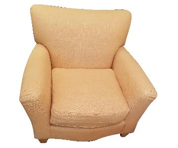 Custom Yellow Fabric Arm Chairs