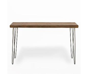 Urban Wood Goods Reclaimed Wood Mid Century Console Table