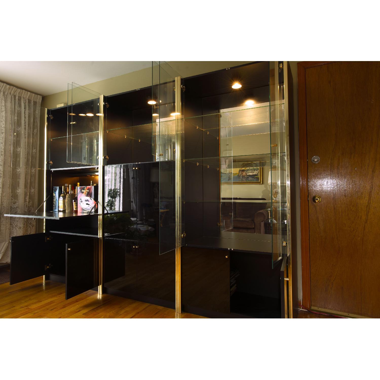 Black Lacquer Wall Unit W Glass Doors Amp Bar Aptdeco
