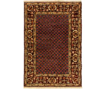 Arshs Fine Rugs Gabbeh Emilie Blue/Drk. Red Wool Area Rug