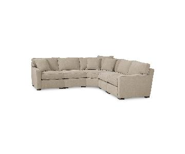Macy's Radley Fabric 5-Piece Sectional Sofa
