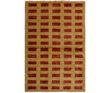 Arshs Fine Rugs Gabbeh Camilla Tan/Red Wool Area Rug