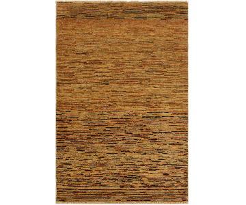 Arshs Fine Rugs Gabbeh Jesse Tan/Rust Wool Area Rug