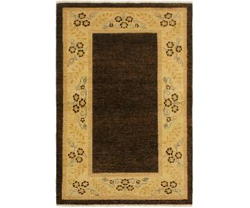 Arshs Fine Rugs Gabbeh Ashleigh Brown/Tan Wool Area Rug