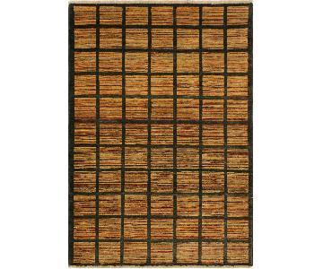Arshs Fine Rugs Gabbeh Pamala Charcoal/Rust Wool Area Rug