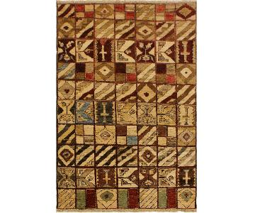 Arshs Fine Rugs Gabbeh Dayna Brown/Green Wool Area Rug
