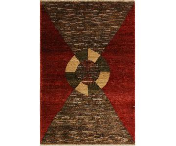 Arshs Fine Rugs Gabbeh Caryn Red/Brown Wool Area Rug