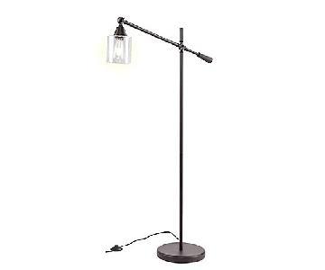 Southern Enterprises Floor Lamp w/ Edison Bulb & Glass Shade