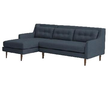 West Elm Crosby 2-Piece Left Chaise Sectional Sofa