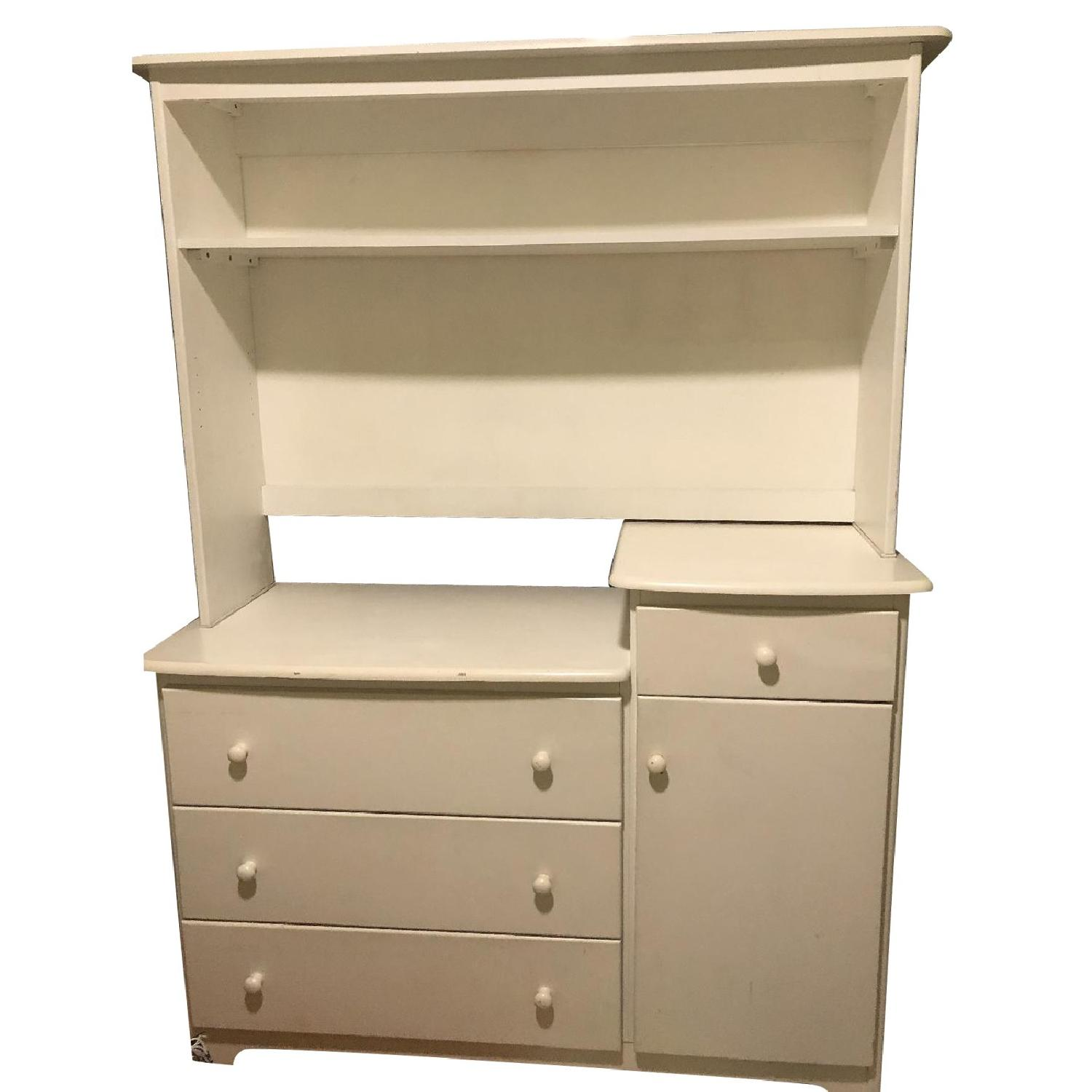 Changing Table Dresser With Hutch All About Image Hd