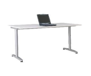 Ikea Bekant Height Adjustable Desk & Micke Filing Cabinet