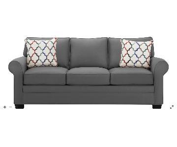 Raymour & Flanigan Glendora Microfiber Sofa & Ottoman