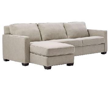 West Elm Henry 2-Piece Sleeper Sectional Sofa w/ Storage