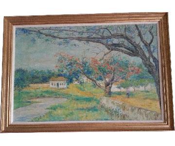 Charles Knecht Signed Original Impressionist Painting