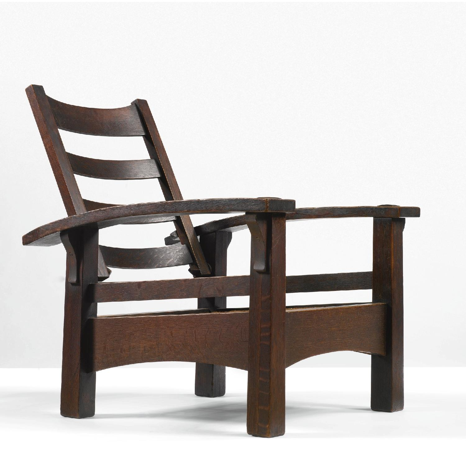 Stickley Bow Arm Morris Chair - image-5