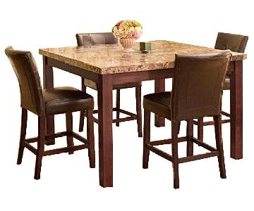 Raymour & Flanigan Marble Dining Table w/ 4 Chairs