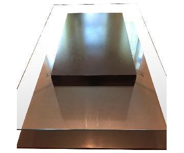 Modern Glass & Wood Coffee Table