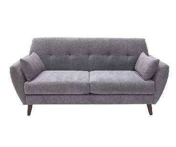 Elle Decor Amelie Mid-Century Modern Loveseat + Armchair