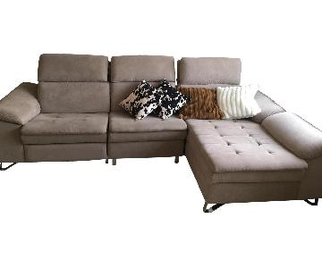 Modern 3-Piece Sectional Sofa w/ Electric Recliner