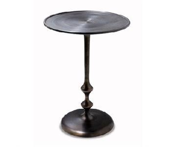 Interlude Home Black Metal Side Table
