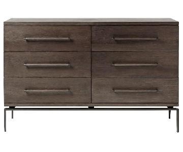 West Elm Nash 6-Drawer Dresser in Mineral