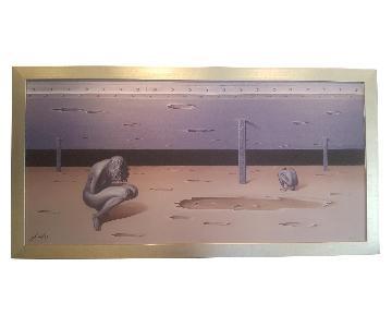 Full Framed Modern Painting