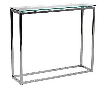 Lamps Plus Sandor Clear Glass Console Table