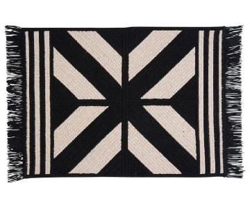 One Kings Lane Black & White Wool Blend Rug